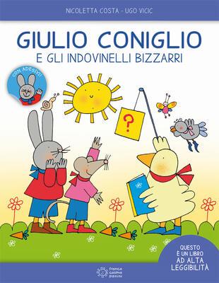 copertina Giulio Coniglio e gli indovinelli bizzarri. Ediz. ad alta leggibilità