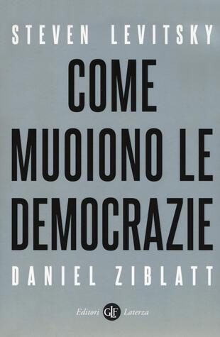 copertina Come muoiono le democrazie