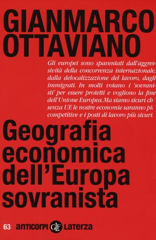 copertina Geografia economica dell'Europa sovranista
