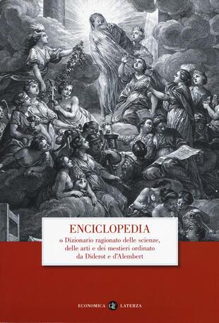 copertina Enciclopedia o dizionario ragionato delle scienze, delle arti e dei mestieri ordinato da Diderot e D'Alembert