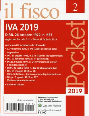 copertina IVA 2019