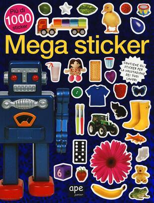 copertina Mega sticker. Più di 1000 sticker. Ediz. illustrata