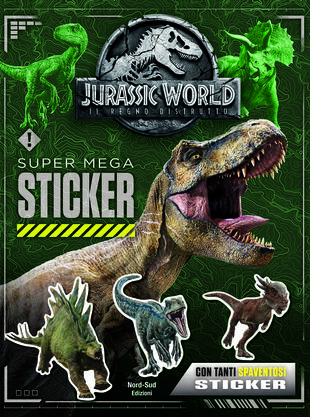 copertina Jurassic World 2 - Super mega sticker