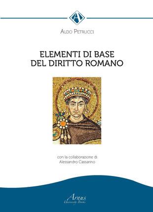 copertina Elementi di base del diritto romano