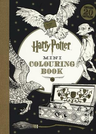 copertina Harry Potter mini colouring book. Ediz. illustrata
