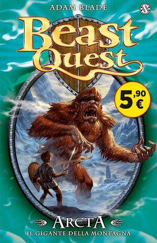 copertina Beast Quest. Arcta. Il gigante della montagna