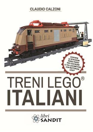 copertina Treni Lego® italiani, con istruzioni passo passo per costruire il locomotore con mattoncini Lego®