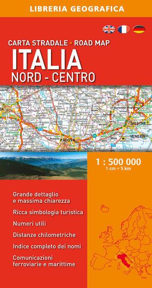 copertina Italia nord-centro 1:500.000. Carta stradale