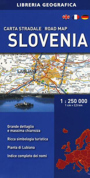 copertina Slovenia. Carta stradale 1:250.000