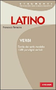 Latino. Verbi