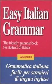 Grammatica italiana facile. In inglese