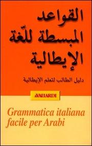 Grammatica  italiana facile in arabo