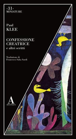 copertina Confessione creatrice e altri scritti