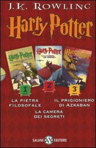 copertina Harry Potter: La pietra filosofale-La camera dei segreti-Il prigioniero di Azkaban