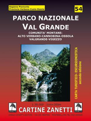 copertina Parco nazionale Val Grande. Comunità montane: alto Verbano, Cannobina, Ossola, Valgrande, Vigezzo 1:30.000
