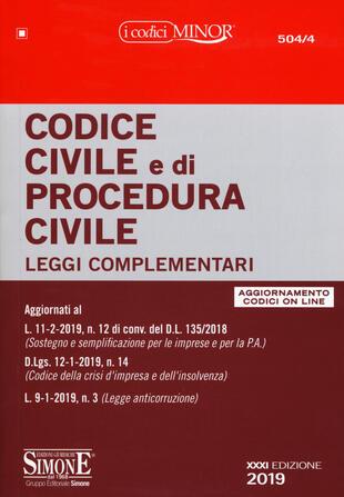 copertina Codice civile e di procedura civile. Leggi complementari. Con aggiornamento online