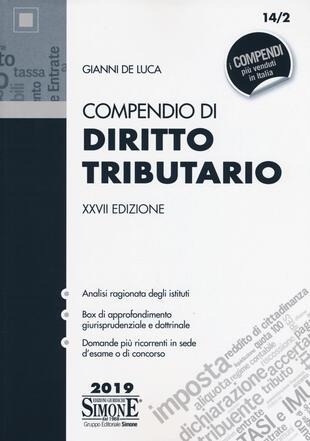 copertina Compendio di diritto tributario