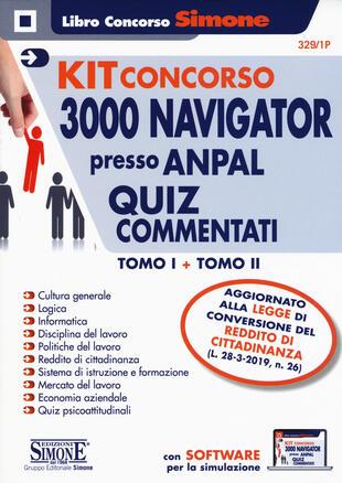 copertina Concorso per Navigator presso ANPAL. Quiz commentati- Kit. Con software di simulazione