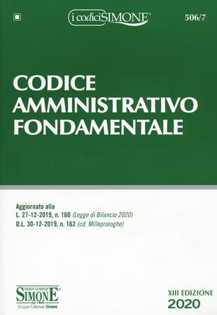 copertina Codice amministrativo fondamentale