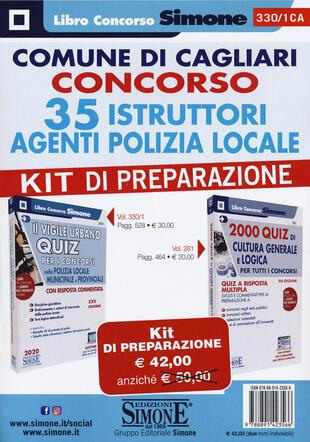 copertina Comune di Cagliari. Concorso 35 istruttori agenti polizia locale. Kit di preparazione