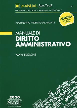 copertina Manuale di diritto amministrativo. Con aggiornamento online