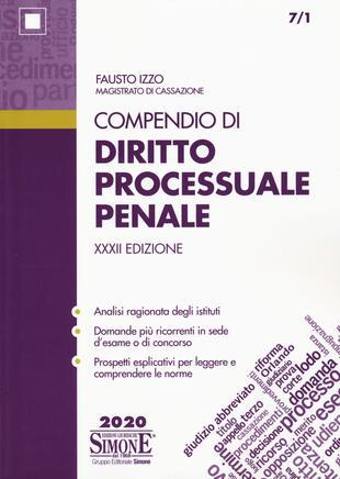copertina Compendio di diritto processuale penale
