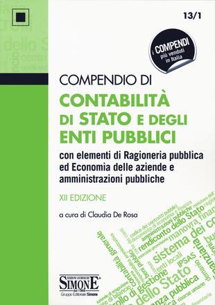 copertina Compendio di contabilità di Stato e degli enti pubblici con elementi di ragioneria pubblica ed economia delle aziende e amministrazioni pubbliche