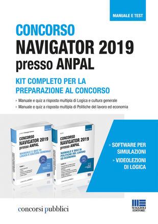 copertina Concorso Navigator 2019 presso ANPAL. Kit completo per la preparazione al concorso