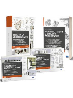 copertina Kit per la preparazione all'esame di abilitazione: Guida pratica alla progettazione-Prontuario tecnico urbanistico amministrativo