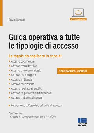 copertina Guida operativa a tutte le tipologie di accesso. Con Contenuto digitale per accesso on line