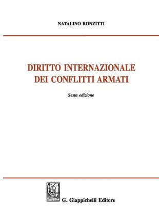 copertina Diritto internazionale dei conflitti armati