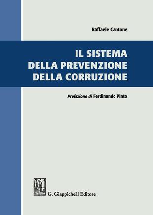 copertina Il sistema della prevenzione della corruzione