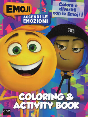 copertina Coloring & activity book. Emoji
