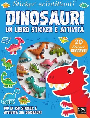 copertina Sticker 3D Dinosauri