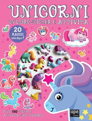 copertina Sticker 3D Unicorni
