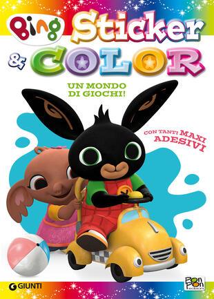 copertina Mondo di giochi. Sticker & color. Bing. Con adesivi. Ediz. a colori