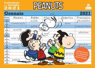 copertina Peanuts. Calendario della famiglia 2021