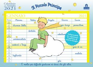 copertina Il Piccolo Principe. Calendario della famiglia 2021