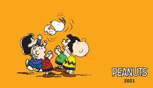 copertina Peanuts. Agenda orizzontale 2021