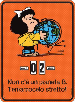 copertina Calendario perpetuo. Mafalda - Pianeta B