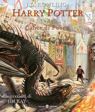 copertina Harry Potter e il Calice di Fuoco Edizione Illustrata