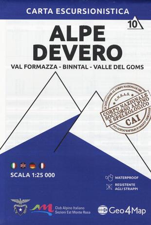 copertina Carta escursionistica Alpe Devero. Val Formazza, Binntal, Valle di Goms 1:25.000