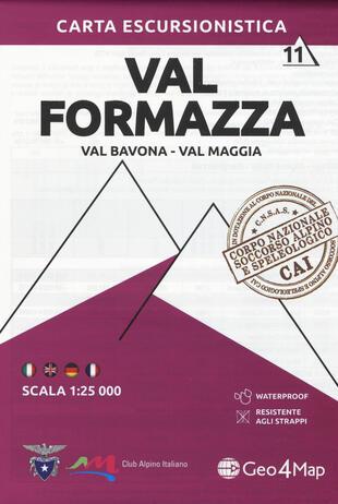 copertina Carta escursionistica Val Formazza, Val Bavona, Val Maggia 1:25.000