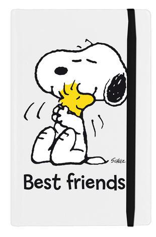 copertina Peanuts - Taccuino - Best friends (bianco)